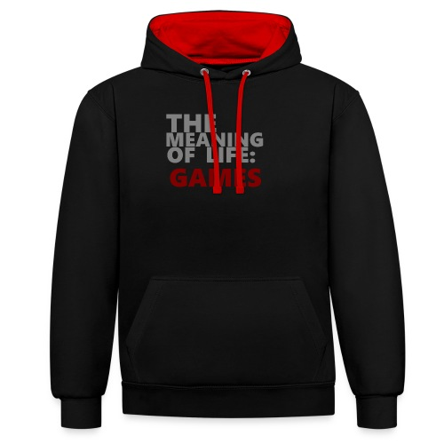 T-Shirt The Meaning of Life - Contrast hoodie
