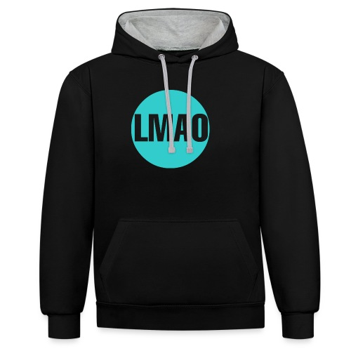Camiseta Lmao - Sudadera con capucha en contraste