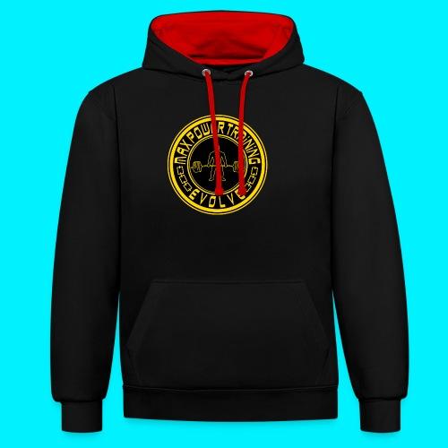 logo_original.png - Felpa con cappuccio bicromatica