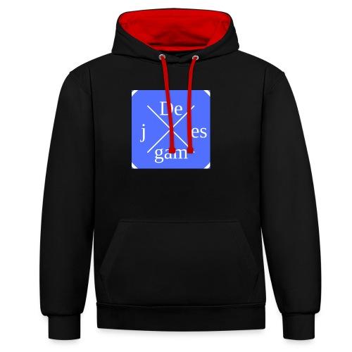 de j games kleren - Contrast hoodie