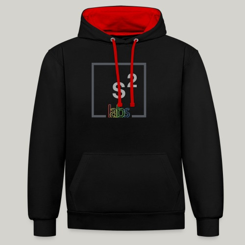 s2labs logo - Contrast Colour Hoodie