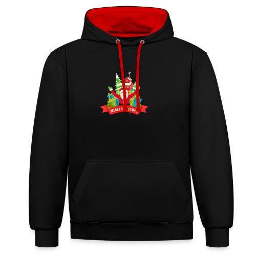 Santa Claus - Sudadera con capucha en contraste
