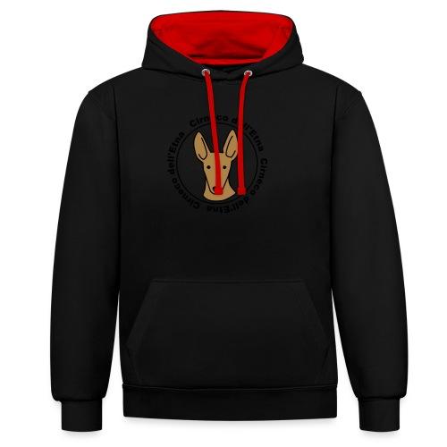Cirneco dell'Etna - Kontrast-Hoodie