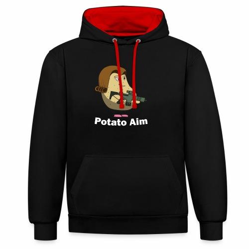 Mrs Potato Aim - Contrast Colour Hoodie