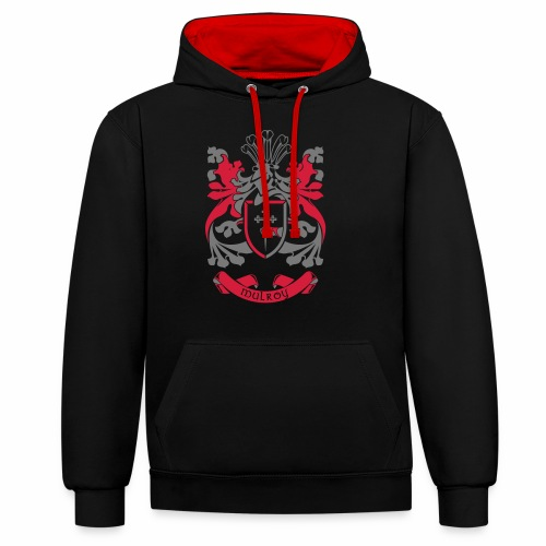 Family Crest: Mulroy - Contrast Colour Hoodie