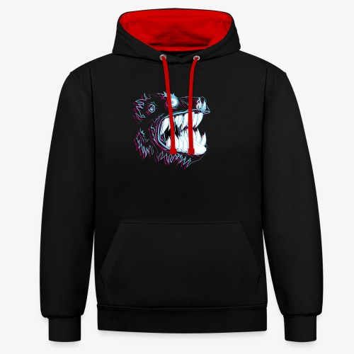 monster neon - Sweat-shirt contraste