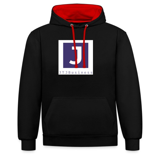 logo - Contrast Colour Hoodie