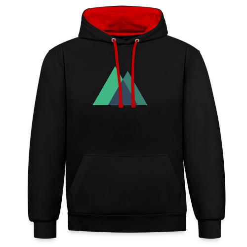 Mountain Logo - Contrast Colour Hoodie