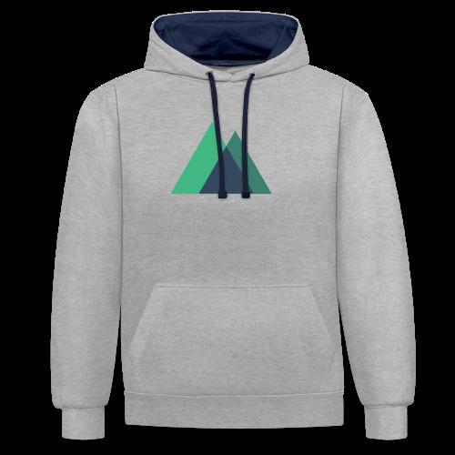 Mountain Logo - Contrast Colour Hoodie