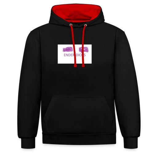 enderproductions enderidiots design - Contrast Colour Hoodie