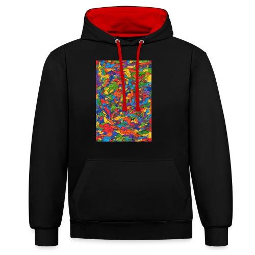 Color_Style - Sudadera con capucha en contraste