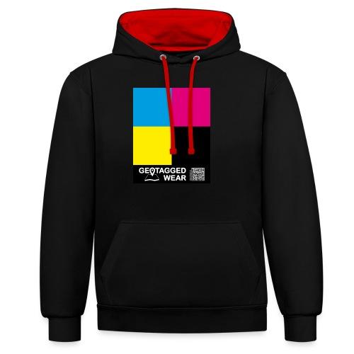 Square CMYK #1 - CMYK Collection - Kontrast-Hoodie