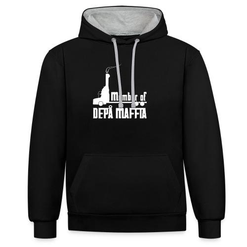 Depå Maffia vitt tryck - Kontrastluvtröja