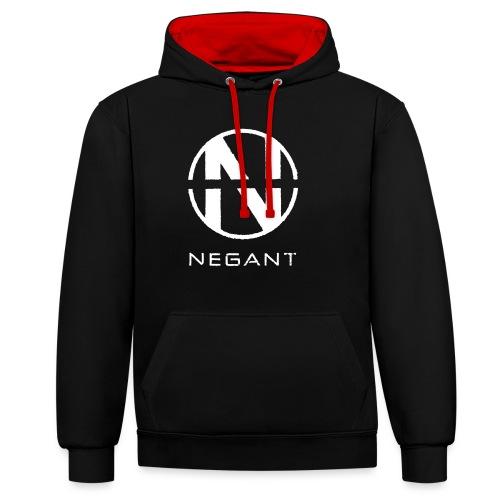 White Negant logo - Kontrast-hættetrøje