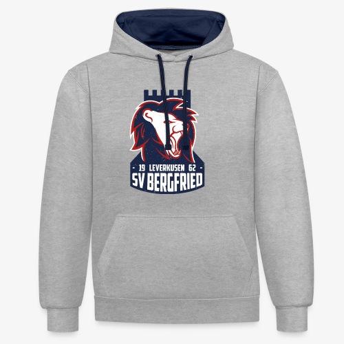 Logo Bergfried Alternative 02 Textur png - Kontrast-Hoodie