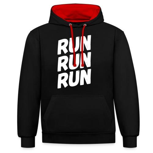 run run run - Kontrast-Hoodie