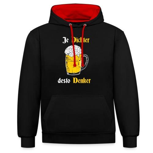 Dichter & Denker Bierkrug - Bierphilosoph - Kontrast-Hoodie