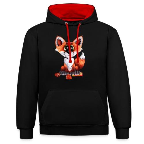 llwynogyn - a little red fox - Kontrastihuppari