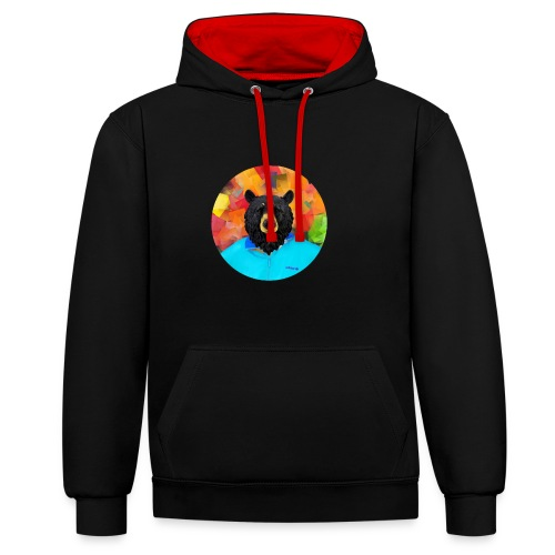Bear Necessities - Contrast Colour Hoodie