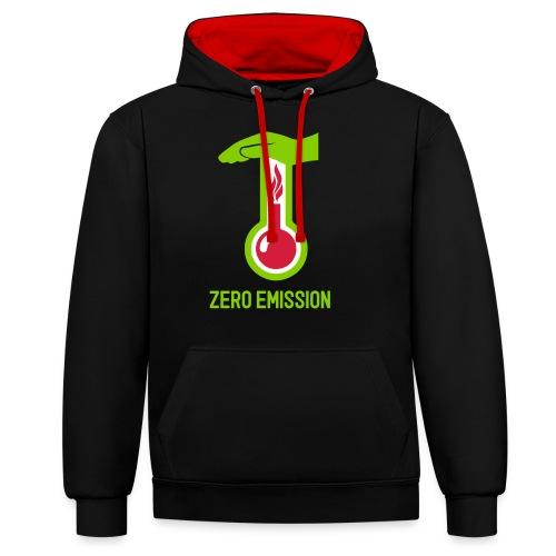 ZERO EMISSION - Kontrast-Hoodie