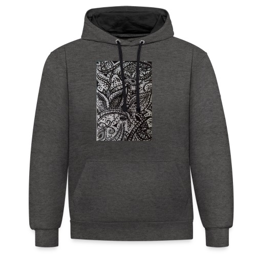 henna - Contrast Colour Hoodie