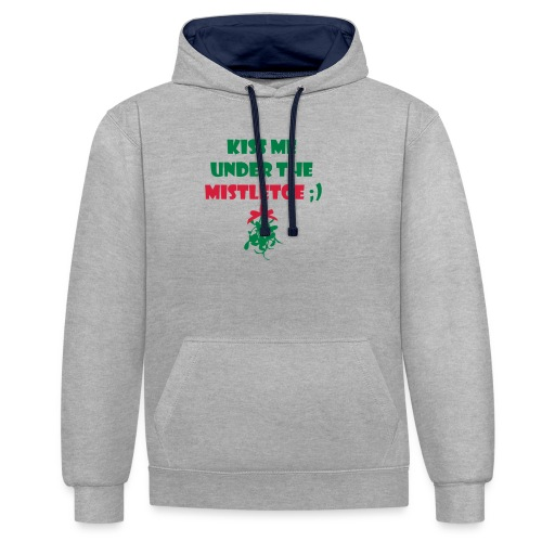 mistletoe - Kontrast-Hoodie