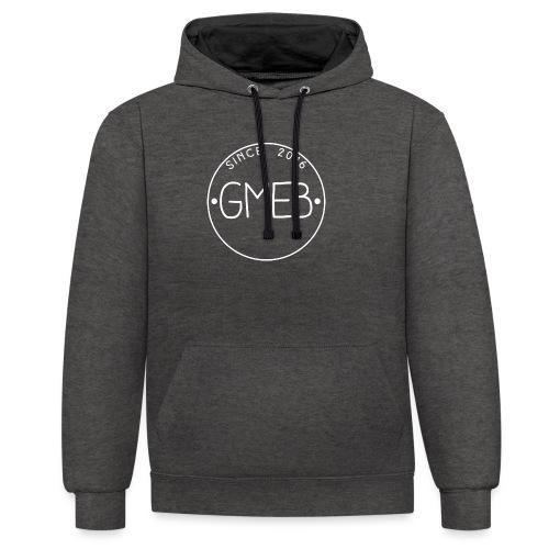 doorschijnend LOGO WIT - Contrast hoodie