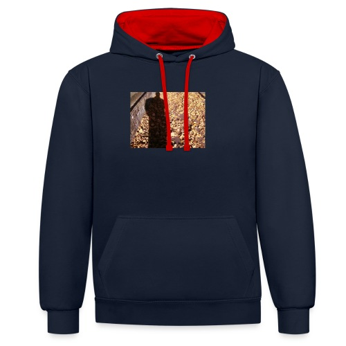 THE GREEN MAN IS MADE OF AUTUMN LEAVES - Contrast Colour Hoodie