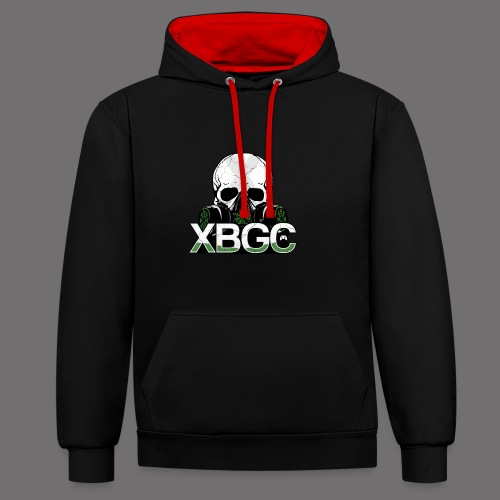 XBGC NEW LOGO changed png - Contrast Colour Hoodie