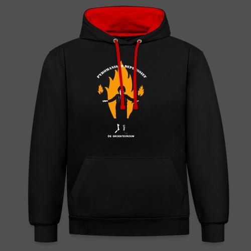 Pyromanisch Depressief (v) - Contrast hoodie