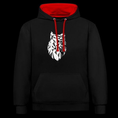 Polygoon wolf - Contrast hoodie