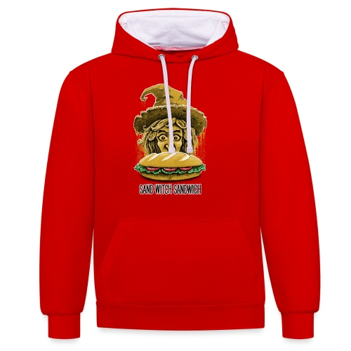 Sand Witch Sandwich V1 - Contrast Colour Hoodie