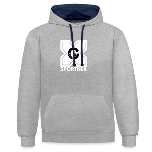 Logo GX SPORTNER blanc - Sweat-shirt contraste