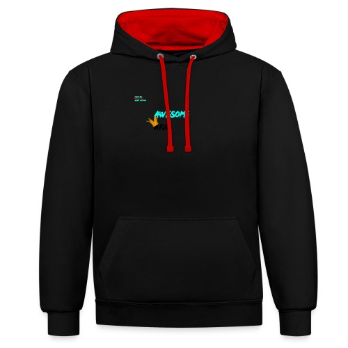 king awesome - Contrast Colour Hoodie