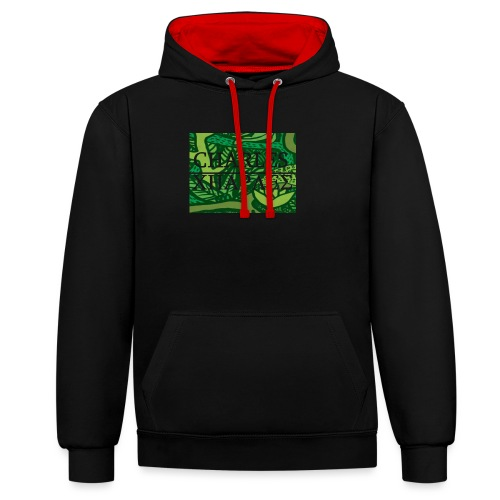 CHARLES CHARLES JUNGLE PRINT - LIMITED EDITION - Contrast Colour Hoodie