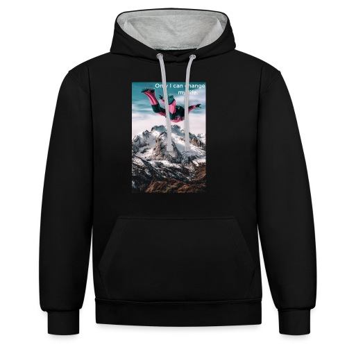 Only I can change my life - Contrast hoodie