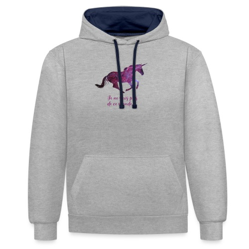 La licorne cosmique - Sweat-shirt contraste