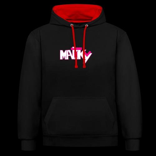 MaickyTv Pink - Kontrast-Hoodie
