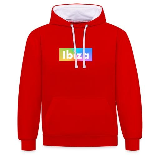 IBIZA Color - Contrast Colour Hoodie