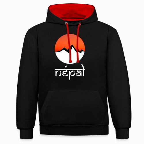 Hoodie Népal - Sweat-shirt contraste