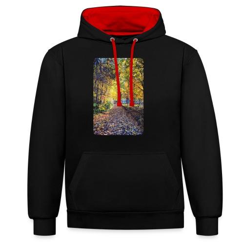 Autumn - Bluza z kapturem z kontrastowymi elementami