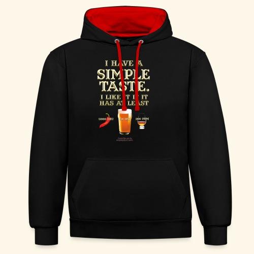 Whisky, Chili, Bier - Kontrast-Hoodie