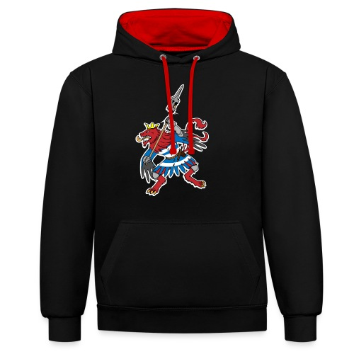 Red Lion Luxembourg - Contrast Colour Hoodie