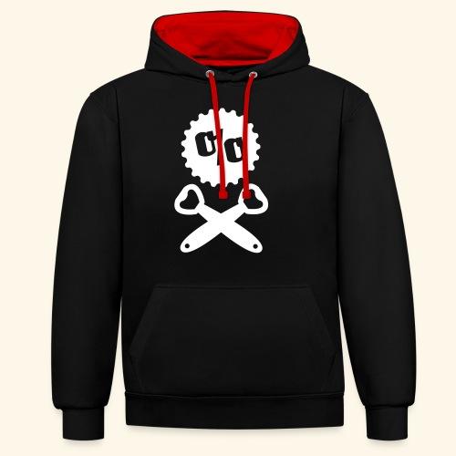 Bier T Shirt Design Piratenflagge - Kontrast-Hoodie