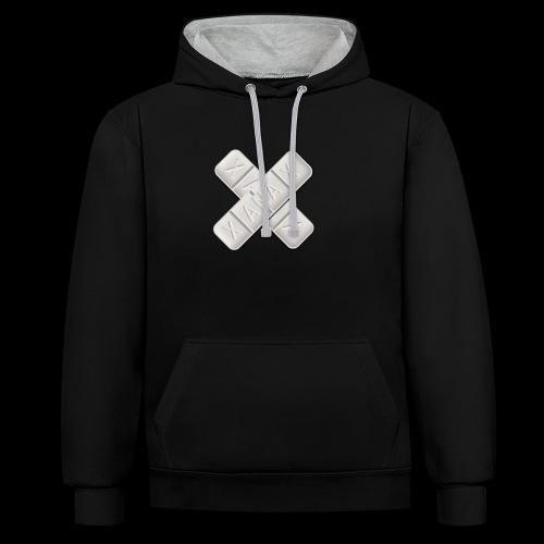 Xanax X Logo - Kontrast-Hoodie