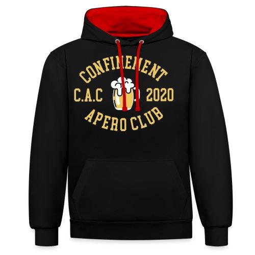 CONFINEMENT APERO CLUB - Sweat-shirt contraste