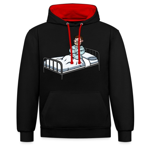 Cure my Clickbait Mascot - Contrast Colour Hoodie