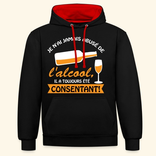 alcool - Sweat-shirt contraste