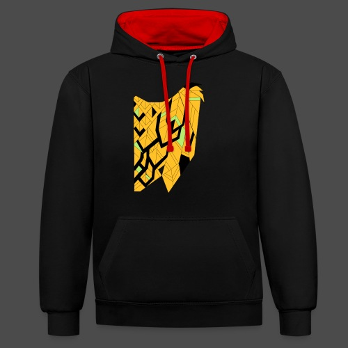 Owl Colour Redraw - Contrast Colour Hoodie
