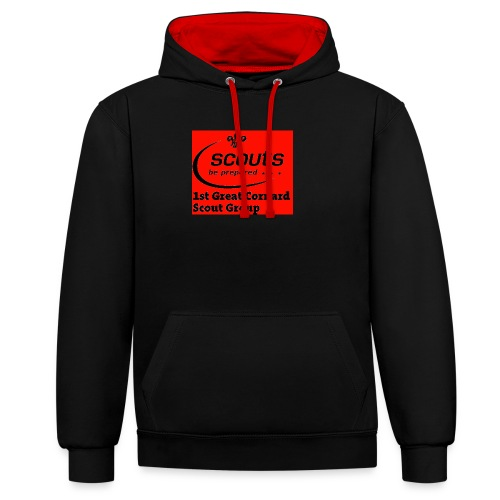 1st Great Cornard Scout Group - Contrast Colour Hoodie